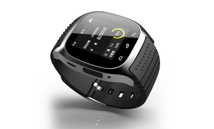 Smartwatch Ultraslim in Schwarz, Blau oder Weiß opt. mit weihnachtlicher Geschenkbox inkl. Versand (bis zu 76% sparen*)