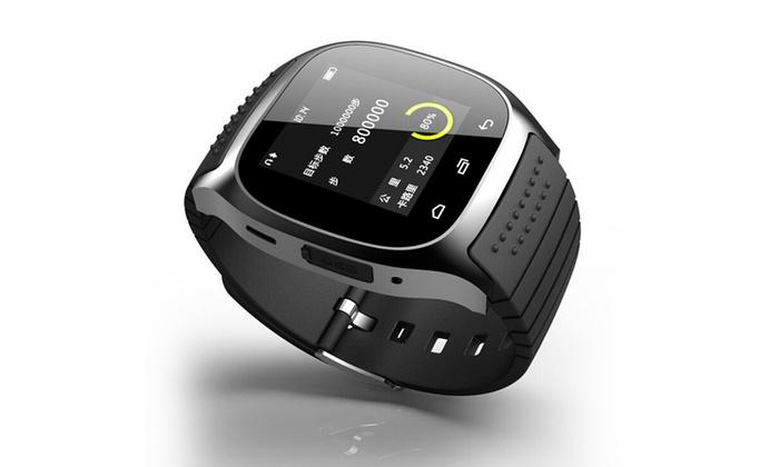 SaleSation - powered by Domexx UG: Smartwatch Ultraslim in Schwarz, Blau oder Weiß opt. mit weihnachtlicher Geschenkbox inkl. Versand (bis zu 76% sparen*)
