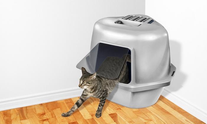 Van Ness Covered Corner Cat Litter Pan & Van Ness Covered Corner Cat Litter Pan | Groupon Aboutintivar.Com