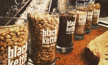 Food and Beer at Black Kettle Brewing Company (Up to 37% Off). Two Options Available.