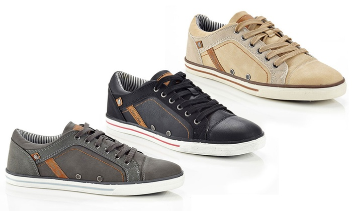 Marco Vitale Men's Lace-Up Fashion Sneakers