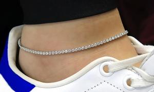 Bracelet de cheville orné de cristaux Swarovski®