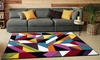 Multi Brights Colour Carved Floor Rug