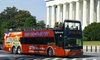 DC Trails - Washington: 48-Hour Hop-On, Hop-Off Bus Pass with Twilight Tour for an Adult or Child from DC Trails (Up to 41% Off)