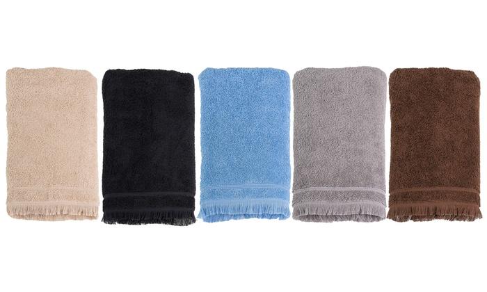 Set di 8 asciugamani da bagno groupon - Set asciugamani bagno ...