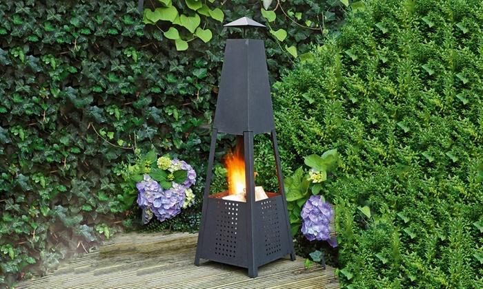 Chimenea De Fuego Piramidal Para Jardin Groupon Goods - Chimenea-jardin
