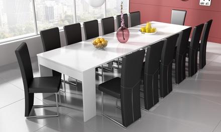 Mesa consola extensible con capacidad para hasta 14 comensales