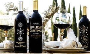 One Custom-etched Bottle Of Wine With Option For Gift Box (up To 43% Off). Free Shipping.