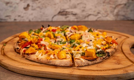 Vegan Pizza or Pasta with Wine for Two $25 or Four People $50 at Deep Groove Bar Up to $112 Value