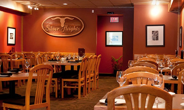 Silver Heights Restaurant - Winnipeg: Steakhouse Lunch or Dinner at Silver Heights Restaurant (Half Off)