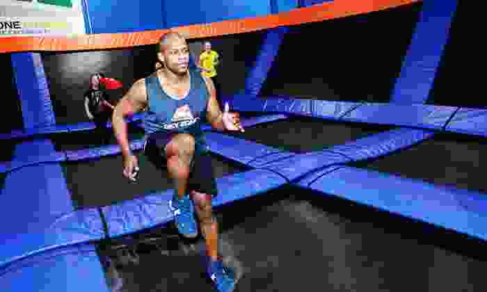 Sky Zone - Sky Zone: One Two-Hour Jump Pass with SkySocks or Weekday Birthday Party for 10 at Skyzone (Up to 33% Off)