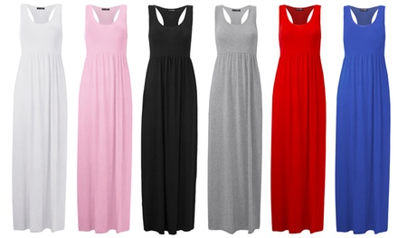 Be Jealous Strappy Racer Muscle Maxi Dress