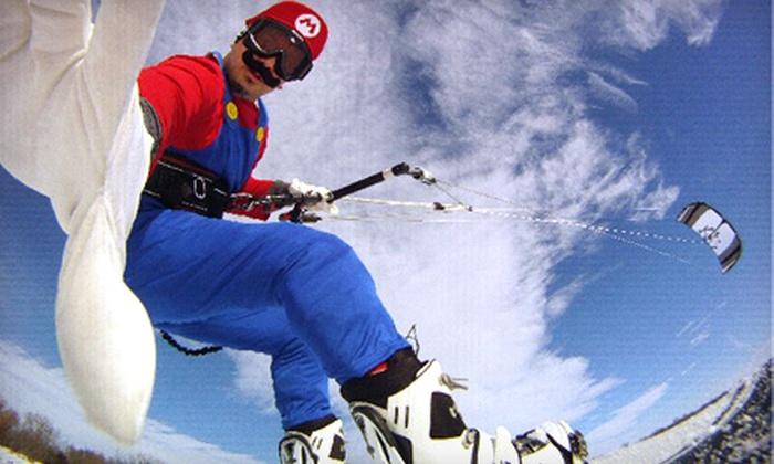 Lakawa School of Kiteboarding - White Bear Lake: Introductory Snowkiting Clinic for One or Two at Lakawa School of Kiteboarding (Up to 51% Off)