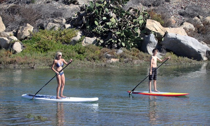 Aloha Stand Up Paddle - Carlsbad: One-Day or One-Week Paddleboard Rental or Two-Hour Paddleboard Lesson from Aloha Stand Up Paddle in Leucadia (Half Off)