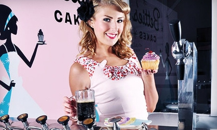 Bettie's Cakes' Skydeck Bus - Saratoga Springs: $45 for a Private Cupcake Party for 10 on Bettie's Cakes' Double Decker Cupcake Stand ($90 Value)
