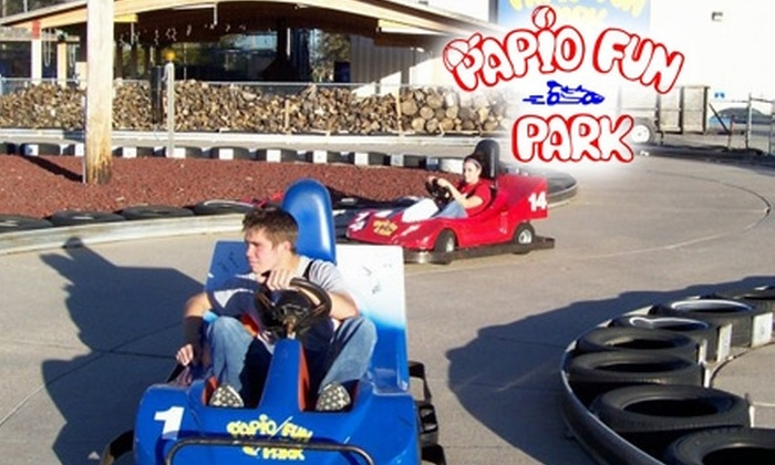 Papio Fun Park - Papillion: $10 for All-Day Unlimited Go-Karts, Mini Golf, Laser Tag, Spaceball, Jumpshot, and Water Wars at Papio Fun Park ($20 Value)