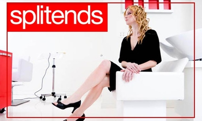 Splitends Salon - Orange County: $40 for a Men's or Women's Haircut, Blow-dry, Style, and Conditioning Treatment at Splitends