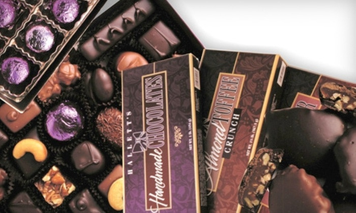Halletts Chocolates - Multiple Locations: $5 for $10 Worth of Sweets and Coffee at Halletts Chocolates