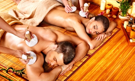 One 60-Minute Couples Massage or Couples Combo Massage with Add-Ons at Sunshine Spa (Up to 66% Off)