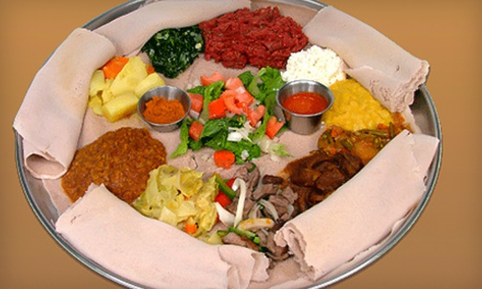 Ethiopian Diamond Restaurant - Multiple Locations: $20 for $40 Worth of Traditional African Fare at Ethiopian Diamond Restaurant