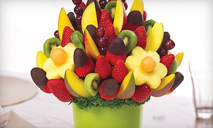 Edible Arrangements - Charlotte: Fresh-Fruit Bouquets or Chocolate-Covered Fruit Boxes from Edible Arrangements in Monroe. Two options available.