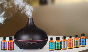 Amore Aromatherapy Ultrasonic Diffuser with Essential Oil Set (9-Pc.)