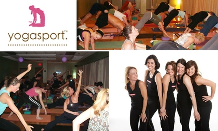 YogaSport - Oak Lawn: $29 for 30 Days Unlimited Classes at YogaSport (Up to $140 value)