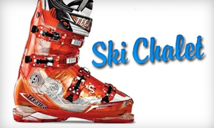 Ski Chalet - Multiple Locations: $20 for $40 Worth of Ski Gear or Apparel, or $20 for a Ski Tune-Up ($40 Value) at Ski Chalet