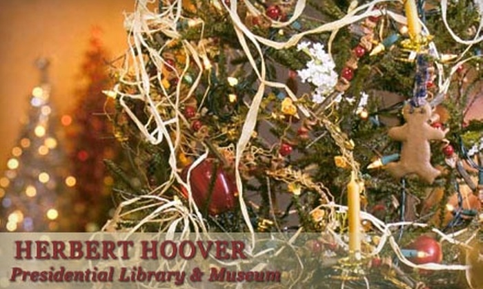 "Herbert Hoover Presidential Library and Museum  - West Branch: Choice of Two Adult or Two Senior Admissions to the ""A Little House Christmas"" Exhibit at the Herbert Hoover Presidential Library and Museum (Up to $12 Value)."