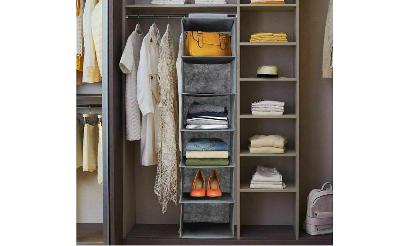 One or Two Five-Shelf Hanging Wardrobe Organisers