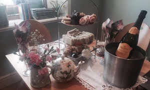 Cobbled Corner: Afternoon Tea with Raspberry Bellini or Prosecco for Two or Four at Cobbled Corner