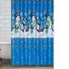 Snowman Shower-Curtain and Hooks (13-Piece)