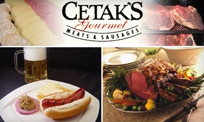 Cetak's Gourmet Meats & Sausages - Lincoln: $5 for $10 Worth of Gourmet Sausages, Brats, and More from Cetak's Gourmet Meats & Sausages