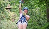 Zip Line USA - Ruth A: Two-Hour Zipline Tour for One or Two from Zip Line USA (Up to 51% Off)