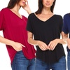 Isaac Liev Women's V-Neck Boyfriend Tee. Plus Sizes Available.