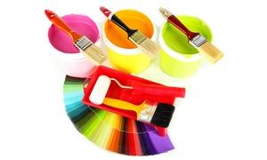 Color&NewService: Servizio di imbiancatura fino a 150 m² e 3 pareti colorate, soffitto incluso (sconto fino a 91%)