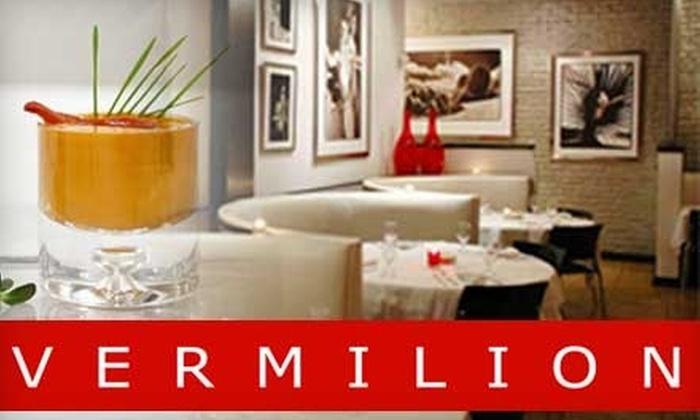 Vermilion Chicago - Near North Side: $50 for Iron Chef & Next Iron Chef Battles 10-Element Off-Menu Dinner at Vermilion Chicago ($100 Value)