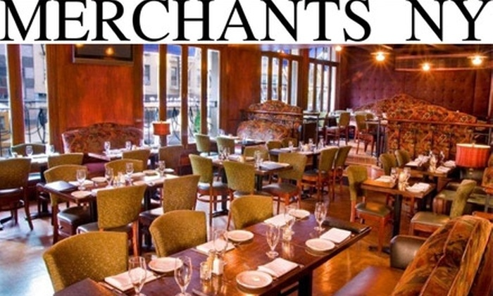 Merchants NY East - Upper East Side: $25 for $50 Worth of Contemporary American Cuisine at Merchants NY East