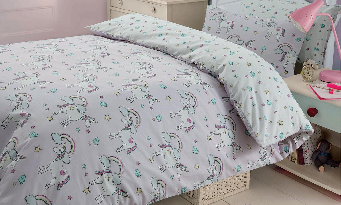 Kids Reversible Polycotton Duvet Set for £10.49