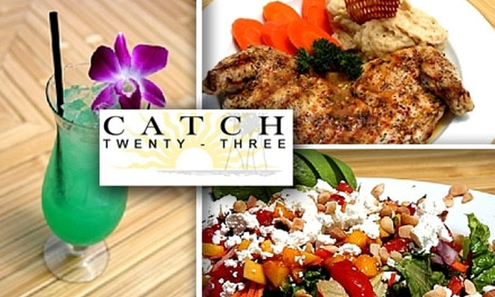Catch 23 - Citrus Park Community: $20 for $50 Worth of Contemporary Caribbean Cuisine and Drinks at Catch Twenty-Three