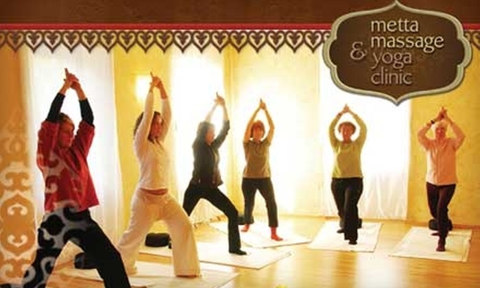 Metta Massage and Yoga Clinic - Westboro: $15 for Two Weeks of Unlimited Wellness Yoga Classes at Metta Massage & Yoga Clinic ($40 Value)