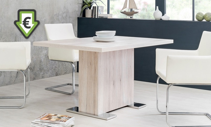 Tavolo con gamba centrale groupon - Tavolo quadrato gamba centrale ...