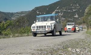 Ceven'Tour: Excursion d'1h30 avec chauffeur en Méhari ou en 2CV pour 2 personnes à 59,90 € CHEZ Ceven'Tour