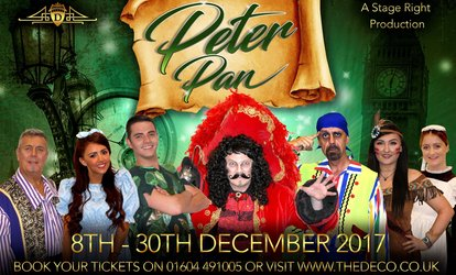 image for Peter Pan Pantomime, 8-19 December at The Deco (Up to 38% Off)