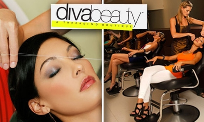 Diva Beauty - Multiple Locations: $10 for 1 Threading Treatment for Eyebrows, Upper Lip and Chin at Diva Beauty (a $20 Value)