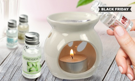 One £4.99, Two £9.98 or Four £19.99 Oil Burner and Fragrance Oils Gift Sets