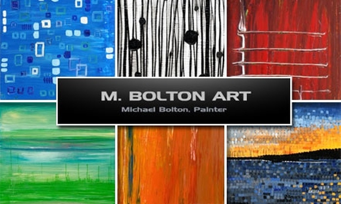 M. Bolton Art, LLC - University City: $40 for a 1'x1' Commissioned Abstract Painting by M. Bolton Art ($100 Value)