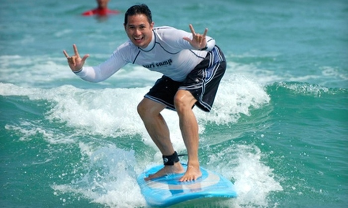 WB Surf Camp - Wrightsville Beach: $35 for a Group Surf Clinic at WB Surf Camp in Wrightsville Beach ($75 Value)