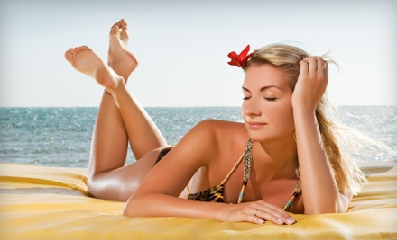 2 Regular Spray Tans (a $64 value) - Save Your Skin Tans in Green