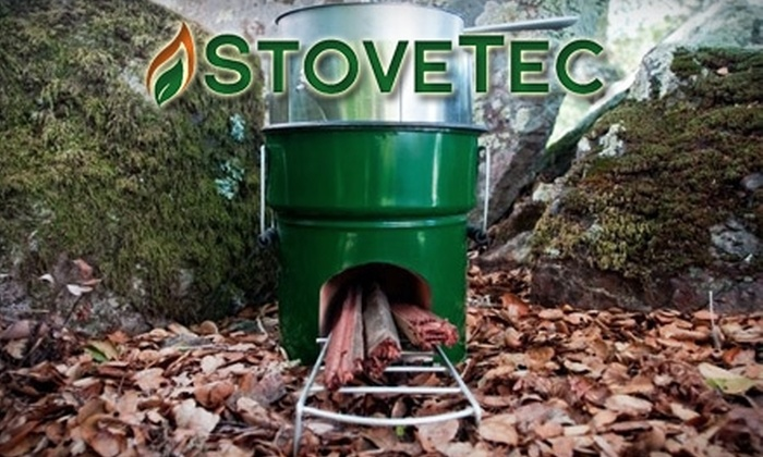 StoveTec: $55 for GreenFire Wood Stove and Organic Cotton T-shirt from StoveTec